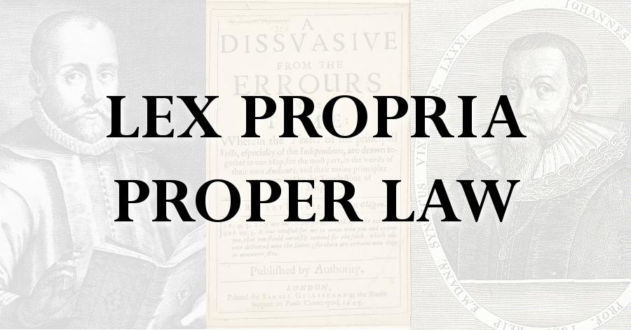 lex propria proper law