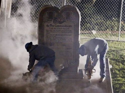Ten Commandments being removed from Oklahoma Supreme Court