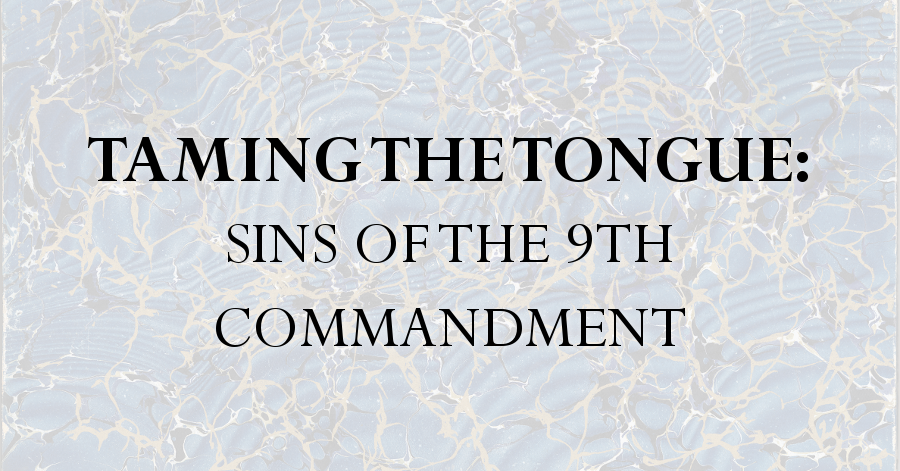 taming the tongue sins of the 9th commandment