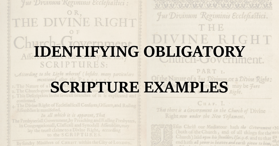 Identifying Obligatory Scripture Examples