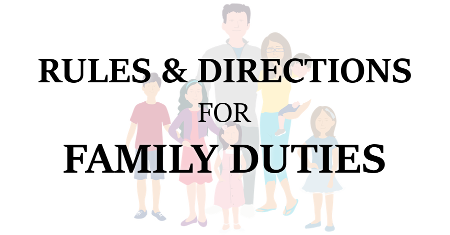 Rules and Directions for Family Duties